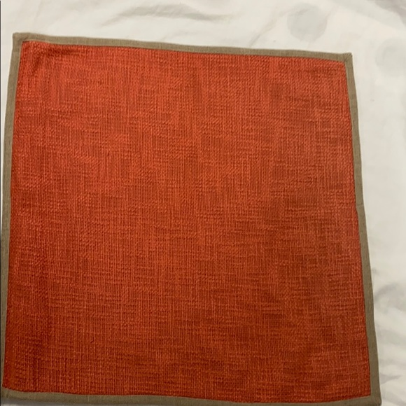 Pottery Barn Rust Woven Pillow Covers set of 2
